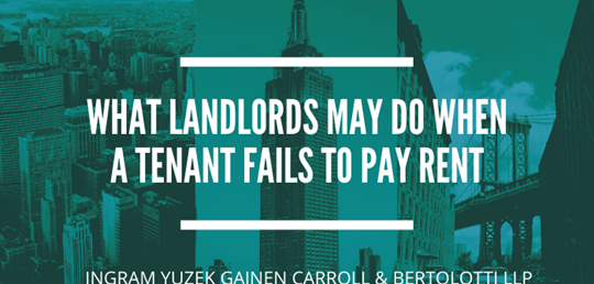 What Landlords May Do When A Tenant Fails To Pay Rent
